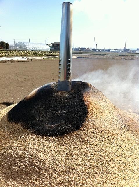籾殻くん炭つくり