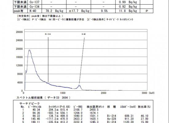 放射能測定結果 玄米